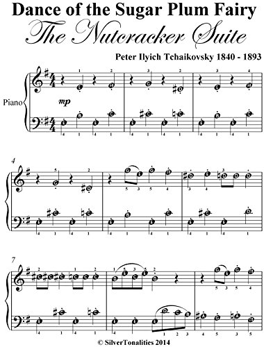Dance of the Sugar Plum Fairy the Nutcracker Suite Easiest Piano Sheet Music in E Minor