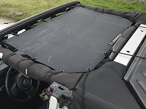 Alien Sunshade Jeep Wrangler Durable Polyester Mesh Shade