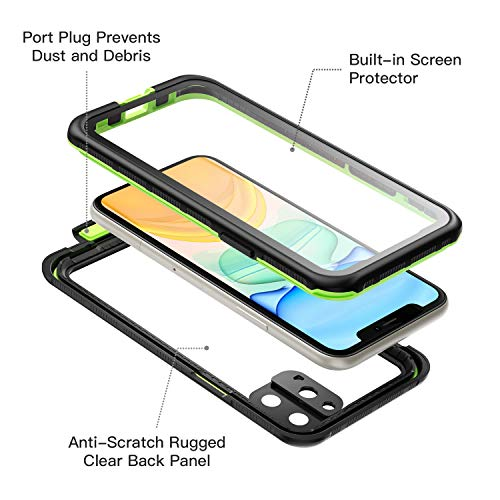 Fansteck iPhone 11 Pro Max Waterproof Case (6.5 inch), Full Sealed Rugged with Clear Sound Quality Waterproof/Shockproof/Snowproof/Dustproof, High Sensitive Touch Screen for iPhone 11 Pro Max (Green)