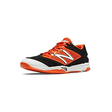 0988bd2a7 New Balance Turf 4040v3 Synthetic Mesh Mens Cushioning Baseball Shoe 5.5  Black-Orange
