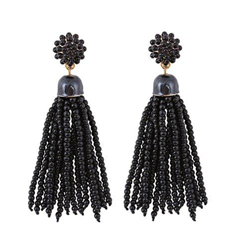 VK Accessories Fringe Dangle Earrings