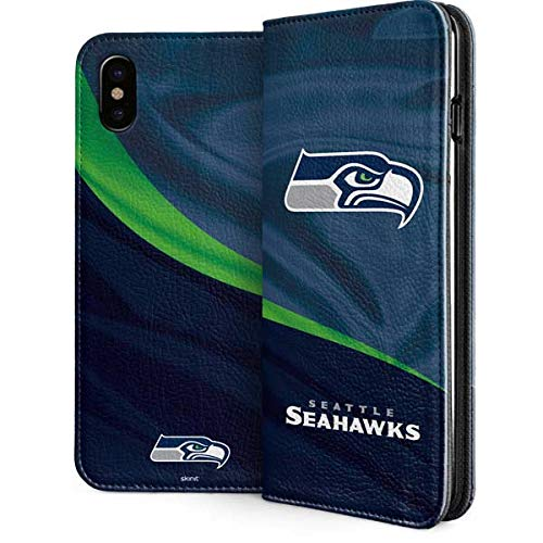 - Seattle Seahawks iPhone Xs Case - NFL   Skinit Folio Case - Faux-Leather Wallet iPhone Xs Cover