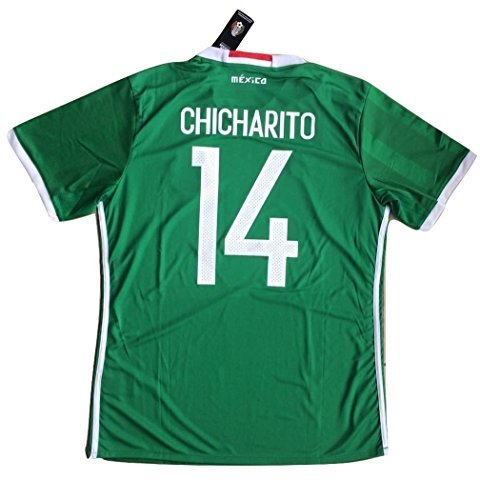 #14 Chicharito 2016 Mexico National Team Men's Home Soccer Jersey (Mexico Home Jersey)