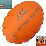 Swim Buoy, Swim Safety Float for Open Water Swimmers Highly Visible Inflatable Air Life Buoy Float with Strap for Safe Swim Training Swimming Surfing Snorkeling