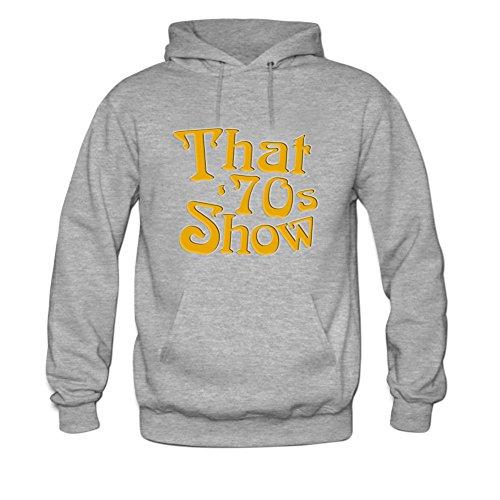 1970s Mens Sweater (That is 70s Show Mens hoody Sweatshirt M Grey)