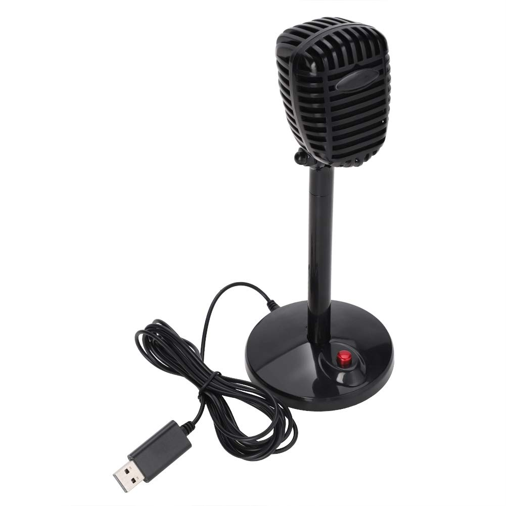 ASHATA Desktop Conference Microphone, High Sensitivity USB Conferencing Microphone with 360° Sound Pickup,USB Flexible Desktop Stand Studio Microphone with Skid-Proof Base/One-Button Switch
