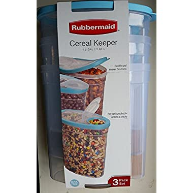 Rubbermaid Cereal Keeper - 1.5 Gal 3-pack Sky Blue
