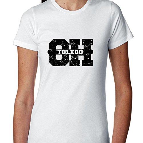 Toledo, Ohio OH Classic City State Sign Women's Cotton T-Shirt -