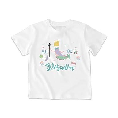 SUPERMOLON Camiseta Niño Poseidón Blanca 5-6 años: Amazon.es: Ropa y accesorios