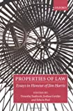 img - for Properties of Law: Essays in Honour of Jim Harris book / textbook / text book