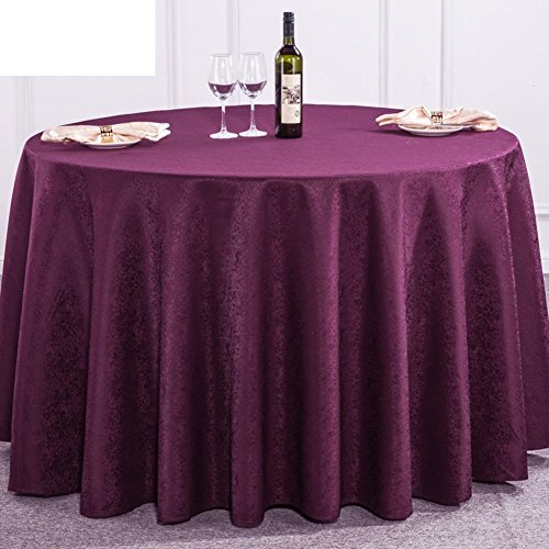 DIDIDD Water and Oil-Burn-Proof Table-Cloth Disposable Continental Tablecloth Fabric Solid-Colored Table Cloth,J,diameter320cm(126inch) by DIDIDD