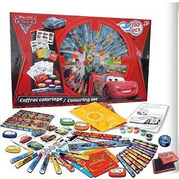 coffret cratif cars coloriage et crayons 110 pices