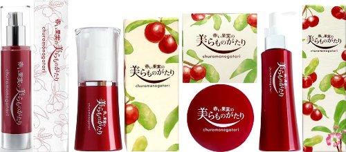 赤い果実の美らものがたり 4種セット(クレンジングジェルウォータージェルクリームエッセンスEX薬用美白ジェル)×各1個セット やんばる彩葉 沖縄生まれのアセロラ自然派化粧品 B00JYP202I  各1個セット