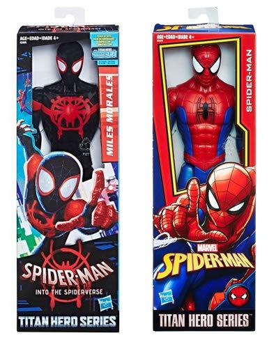 Heroes Miles Morales & Spider-Man Into The Spider-Verse Titan Hero Series Marvel 12