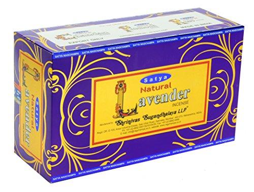 Satya Natural Lavender Incense sticks, 12 Pack
