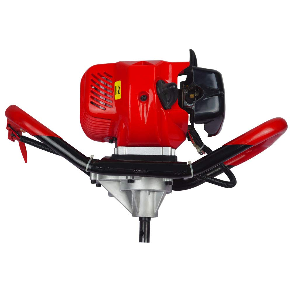 Engine Motor with 6/&10Auger Bits FISTERS 2.5HP Gas Powered Post Hole Digger with 6 /& 10Earth Auger 52CC Power Engine 6 + 10 Auger Bits US