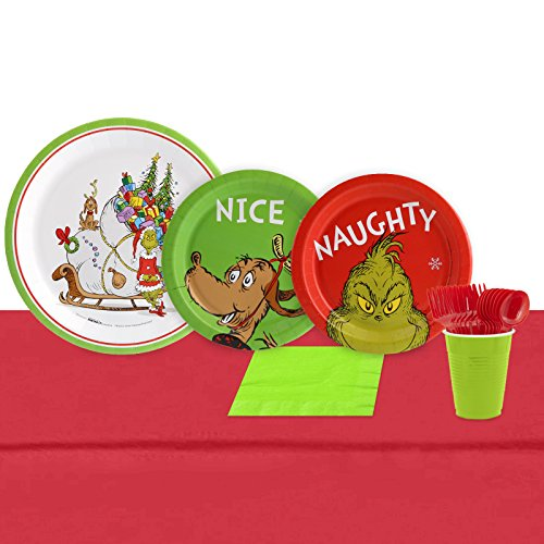 Grinch Christmas Party - BirthdayExpress Dr. Seuss The Grinch Holiday Party Pack (16 Guest)