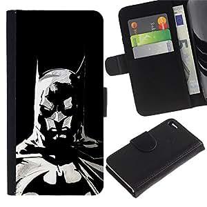 UNIQCASE - Apple Iphone 4 / 4S - The Bat Superhero - Cuero PU Delgado caso cubierta Shell Armor Funda Case Cover