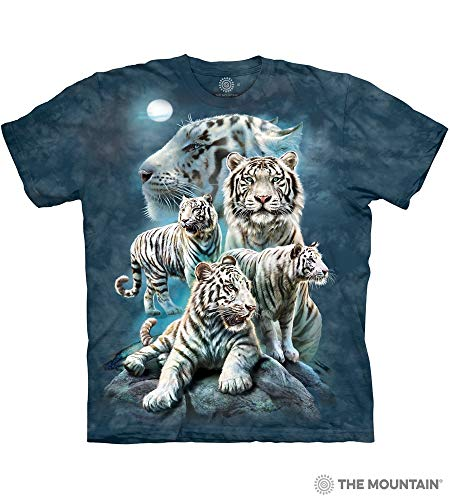 The Mountain Unisex-Adult's Night Tiger Collage, Blue, Large