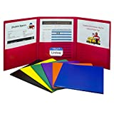 Tri-Fold Heavyweight Poly Portfolios, 24 per Pack, Assorted (33940-24)