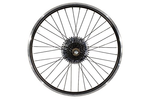 26'' Heavy Duty Rear Bike Wheel & Freewheel Axle Kit For Motorized Bicycles - Gas Bike Engine Rim 44 Tooth Sprocket - Disc brake Rotor by Brilliant (Image #4)