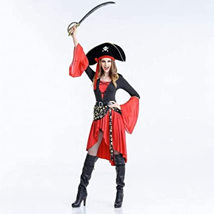 Shisky Traje de Cosplay, Brujas de Halloween Traje Pirata ...