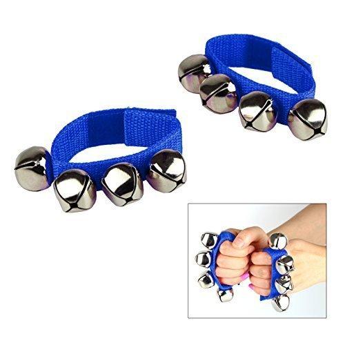 Tera 1 Pair of Velcro Wrist Shake Bells Jingles Rhythm