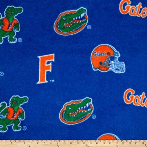 Florida Gators Fleece Fabric - Sykel Enterprises Collegiate Fleece University of Florida Fabric By The Yard