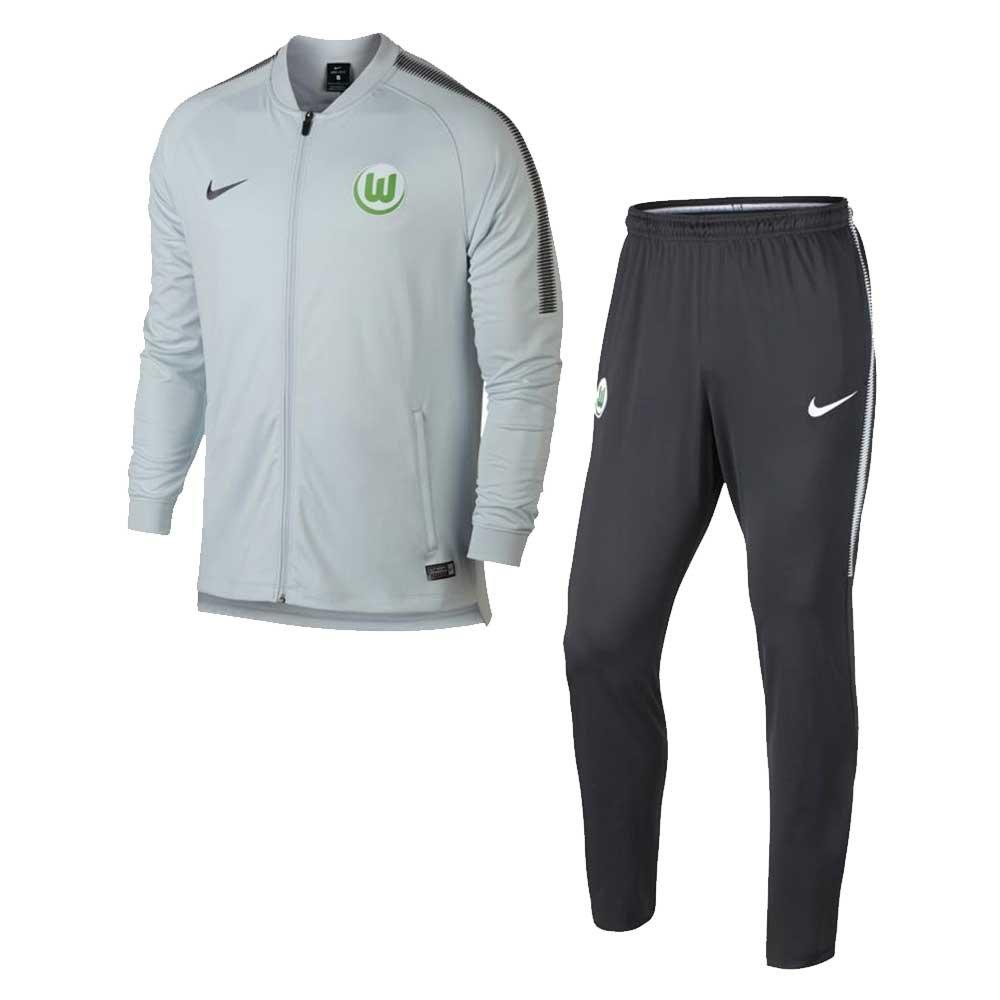 2017-2018 VFL Wolfsburg Nike Dry Knit Tracksuit (Platinum) B074372DMW