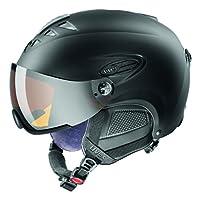 UVEX Skihelm hlmt 300 visor, Black Mat, 55-58 cm, S5661622205