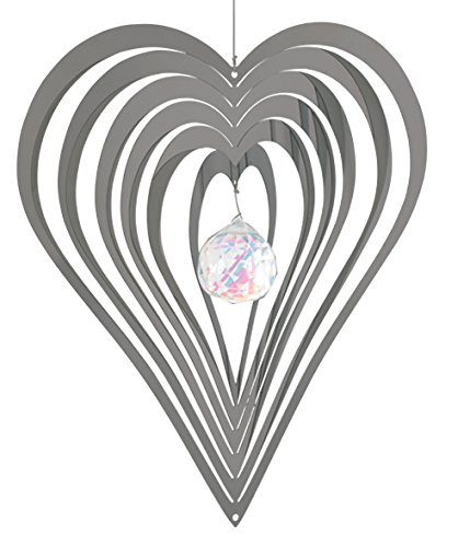 Nature's Melody CS05HE 5-Inch Heart Cosmo Spinner - Silver Nature's Melody