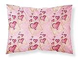 Caroline's Treasures Watercolor Pink Love Letter Pillowcase, Standard, Multicolor