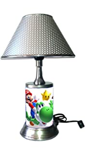 JS Table Lamp with Chrome Colored Shade, SuperM.