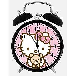 Hello Kitty Teddy Bear Alarm Clock Z49 Nice for Gifts or Decor