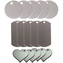 Metal Stamping Blank Pendants: Round, Heart, and Dog Tags