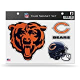 NFL Chicago Bears Bling Team Magnet Set with Team Logos, 8.5 x 11-Inch, Clear