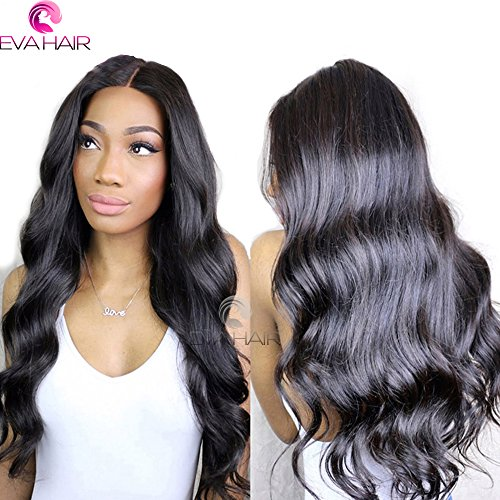 13x6 Lace Front Human Hair Wigs for Black Women Pre plucked Brazilian Virgin Hair 150 density Lace Front Wig Glueless Body Wave Front Lace Wigs with Baby Hair (14 Inch,150 density,13x6 Lace Front Wig) by EVA HAIR (Image #1)