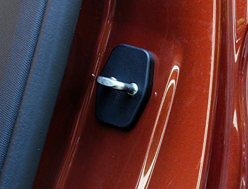 Para 3008//GT 5008//GT 2017 2018 2019 Negro Cubierta protectora de pl/ástico para cerradura de puerta 4 piezas HIGH FLYING