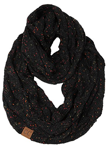 (S1-6033-06 Funky Junque Infinity Scarf - Black (Confetti))