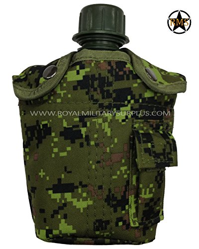 Water Canteen - Canteen & Cover - Canada Army Digital Camouflage - Military & Outdoor Gear - CADPAT (Temperate Woodland) by Royal Military Surplus