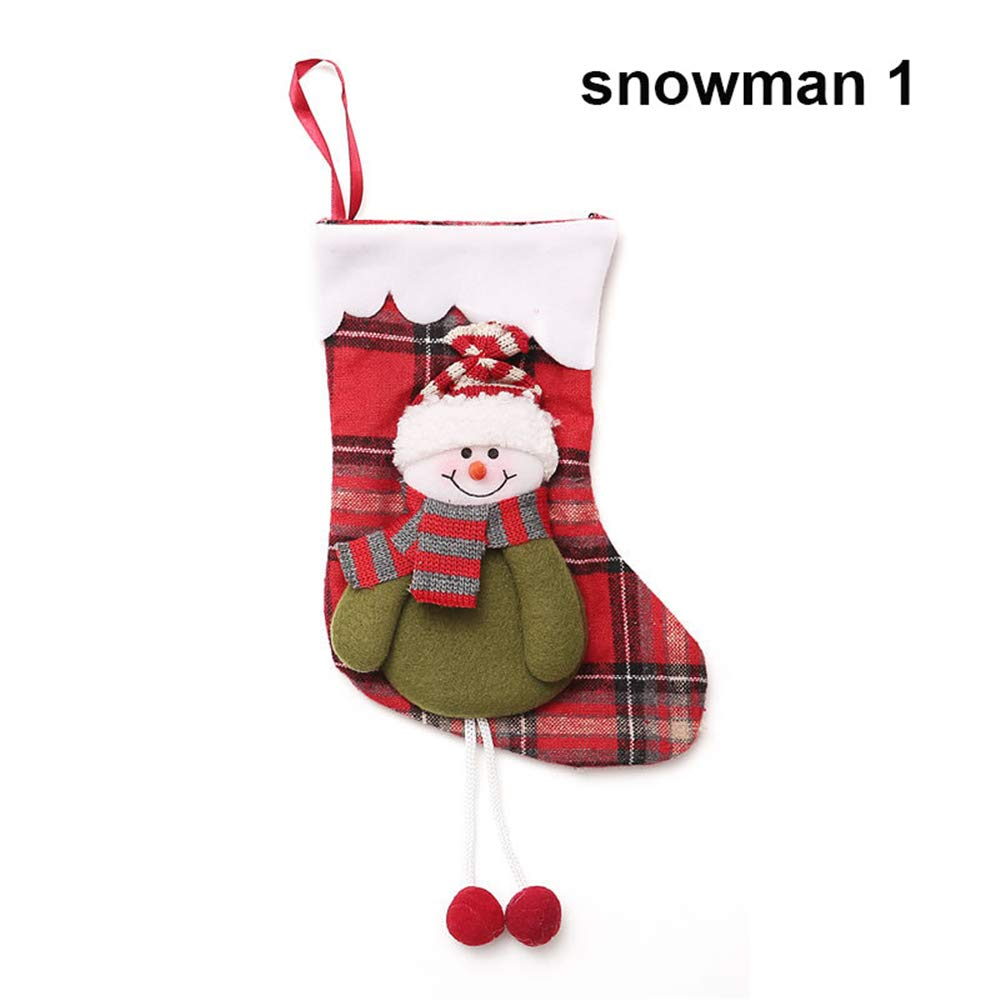 Lovely New Year Party Supplies Decoration Candy Bag Xmas Tree Decor Christmas Ornament Gift Stockings (A)