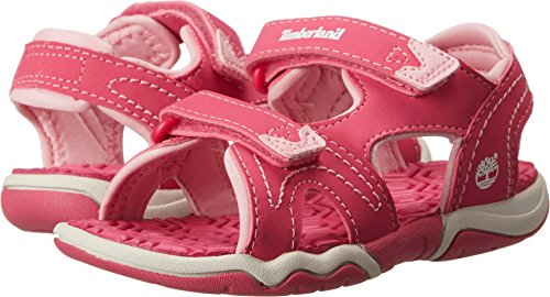 Timberland unisex-baby Adventure Seeker 2-Strap Sandal Pink Majority Synthetic without Leather 8M