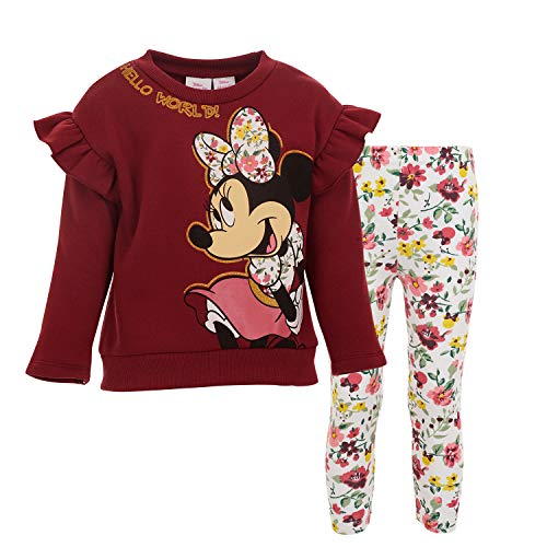Disney Minnie Mouse Girls Fleece Top and Leggings Set