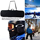Snowboard Bag, Board Sleeve Black 55 inch Bag for