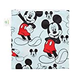 Bumkins Disney Mickey Mouse Sandwich Bag / Snack Bag, Reusable, Washable, Food Safe, BPA Free, 7x7 , Pack of 1