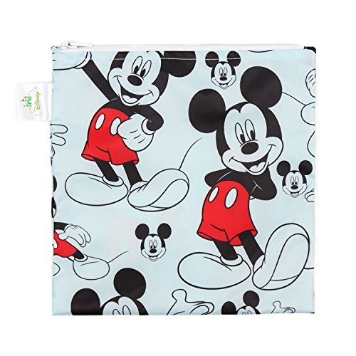 Bumkins Disney Baby Reusable Snack Bag Large, Mickey Mouse (Monsters Inc Baby Stuff)