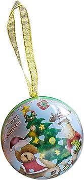 BESTOYARD Caja de Bolas de Navidad Caja de Dulces Ornamento de Bolas de Navidad Árbol de Metal Decoraciones Colgantes Suministros para Fiestas navideñas Adornos (Patrón Aleatorio): Amazon.es: Juguetes y juegos
