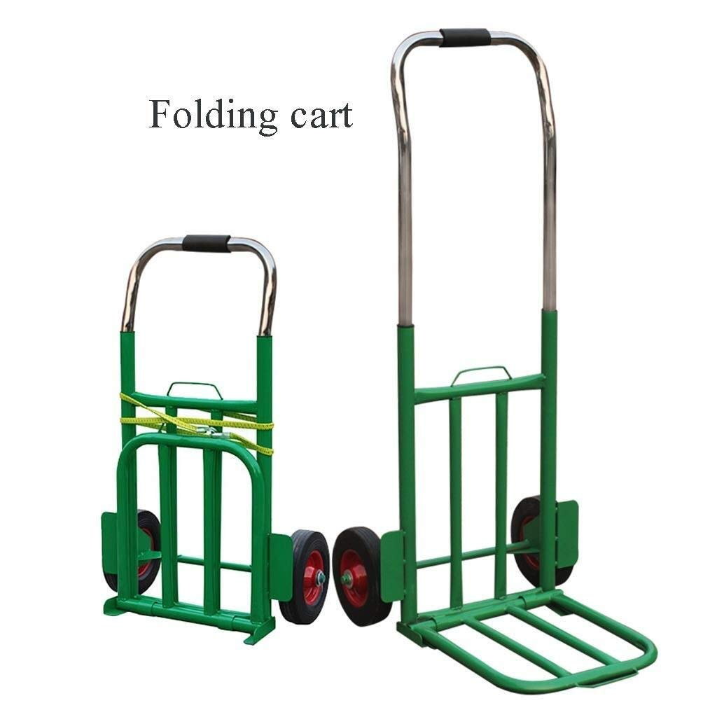 LXJYMX Compact Platform Truck Folding Trolley, Small Trailer, Luggage, Heavy Truck, Truck, Telescopic Tractor Large-Capacity Platform Truck
