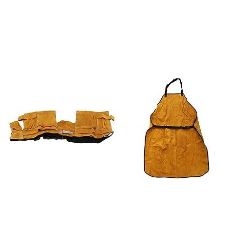 F Fityle Kit de Bolsa de Cintura Soldadura Delantal de Protección Anti-Salpicadura Adecuado para