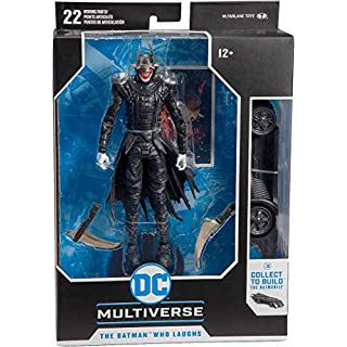 McFarlane Toys - DC Multiverse - Batman Who Laughs Action Figure with Build-A Rebirth Batmobile (Piece 3)